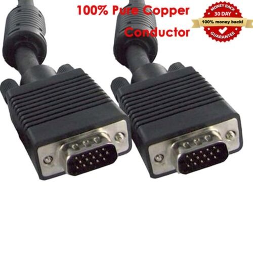 10ft 15Pin HD15Pin Super SVGA VGA Monitor M//M Male To Male Cable for PC TV HDTV
