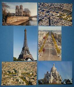 Set-of-6-Brand-New-Glossy-Postcards-Paris-Landmarks-France