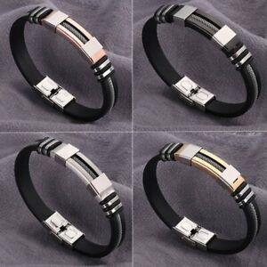 a484af81399a5 Trendy Stainless Steel Letter Love Cuff Bangle Black Bracelet Men ...
