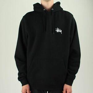 Détails sur Stussy Basic Logo Sweat à Capuche en Noir en Taille S, M, L, XL afficher le titre d'origine