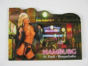 Hamburg-Reeperbahn-Pauli-Germany-2D-Holz-Magnet-Souvenir-Deutschland