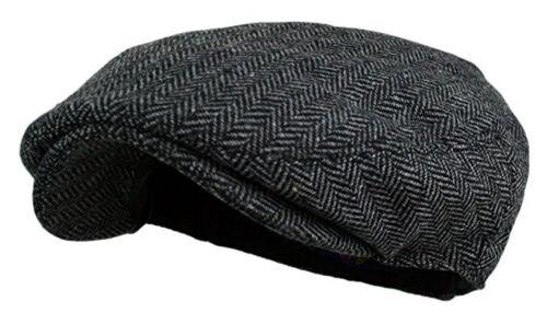 Classic Wool Tweed Plaid Ivy Herringbone Stylist Cap Hat Flat Cabbie Newsboy NEW