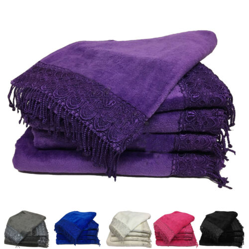 Luxury Towels Set Bale Bath Sheet Hand 600 GSM Bathroom 5 Piece Set Designer New