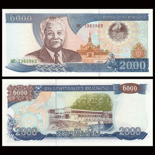2003 P-33b Laos 2000 2,000 Kip UNC