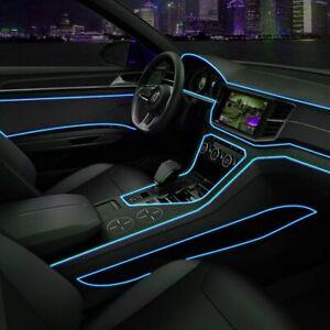Cold-blue-coche-LED-el-alambre-ambiente-interior-Tira-de-Luz-Lampara-De-Neon-Glow-Decoracion