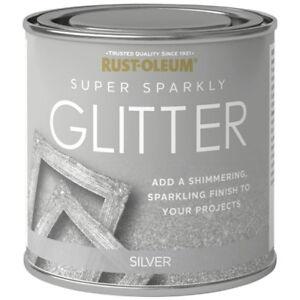 X1 Rust Oleum Super Sparkly Sparkling Silver Glitter Paint