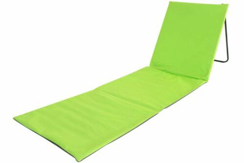 Chaise de plage relax vert avec dossier pliable transat plage soleil jardin de coffre
