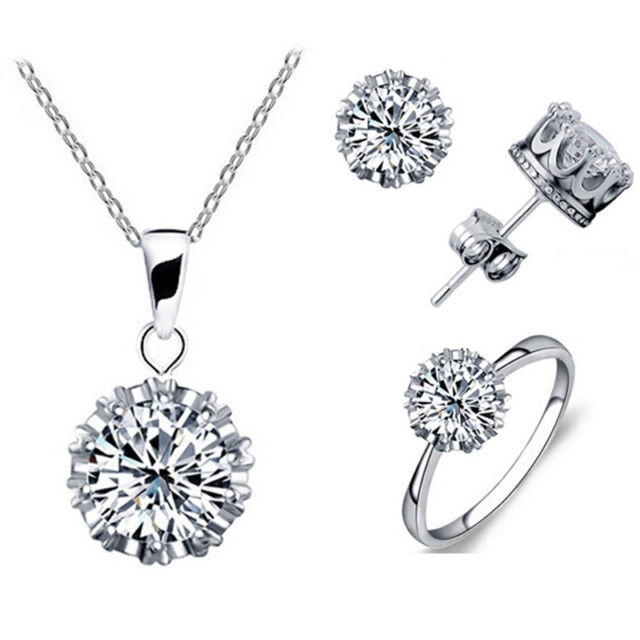 Fashion jewelry set party wedding gift 925 Sterling silver refined beauty gift