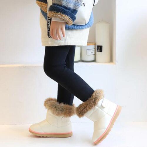 Kids Girls Toddler Winter Snow Warm Boots Ankle Fur Cute Design Anti-Slip USA