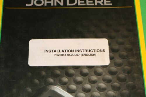 John Deere ATU Steering Kit Installation Intructions Manual PC20864