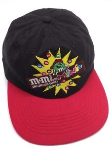 M M MINIS chocolate candy black adjustable cap   hat - youth size  0cc25f134770