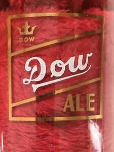VINTAGE-DOW-BEER-ALE-FIRE-KING-DRINKING-GLASS-MONTREAL-QUEBEC-CANADA-SIGN-LOGO