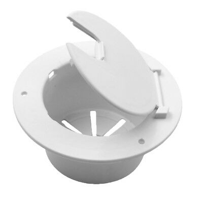 Dumble Deluxe Round Electric Cable Hatch for 30 and 50 Amp RV Electric Cord RV Camper Electric Cord Cover White