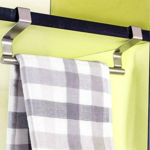 23cm//36cm Towel Rail Bar Holder Kitchen Over the Door Hanger Storage Cabine A0U9