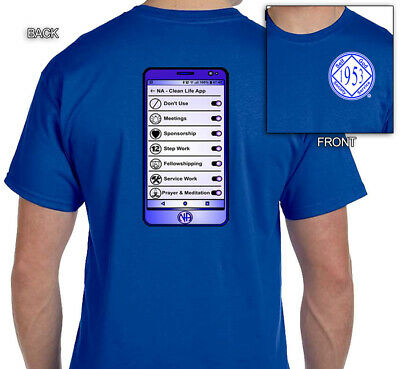 Graphic T-shirt  S-4X NA Clean Life Mobile App Narcotics Anonymous