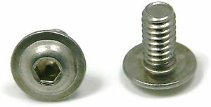 Button Flange Socket Head Cap Screw Stainless Steel 1/4-20 x 3/4 Qty 25