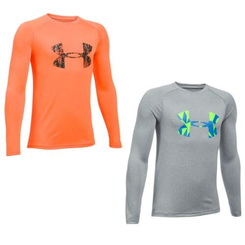 Under Armour Boys Big Logo Long Sleeve Tee Running Gym Training Top T Shirt