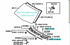 Image Is Loading Toyota Rav4 Battery Cover Clips Set Of Six