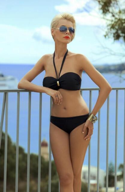 Bikini von Ewlon  Majorka Schwarz Bademode