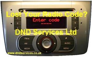 Liberar código PIN ALFA ROMEO BLAUPUNKT Radio Estéreo provided