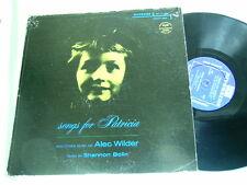ALEC WILDER Songs For Patricia Shannon Bolin Riverside mono dg LP Milton Kaye