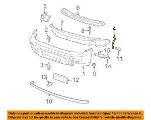 Chevrolet GM OEM Trailblazer Front Bumper-Bumper Cover Brace Right 15787494    eBayeBay