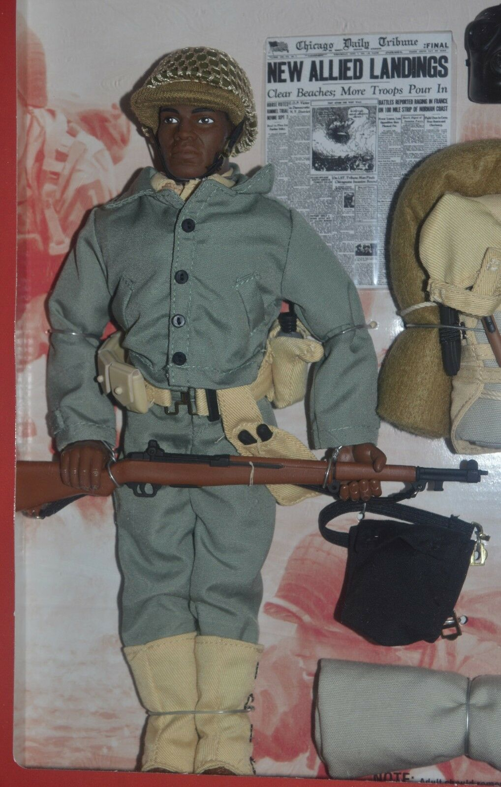 GI Joe D-DAY SALUTE African-American Soldier Limited Edition 12  1997 MIP
