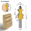"""1//2/"""" 12mm Shank Molding Handrail Router Bit Architectural Grooving Cutter Tool"""