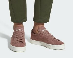 adidas-COURTVANTAGE-CQ2616-ashpink-Turnschuhe-rose-NEU-Echtleder-Damenschuhe-neu