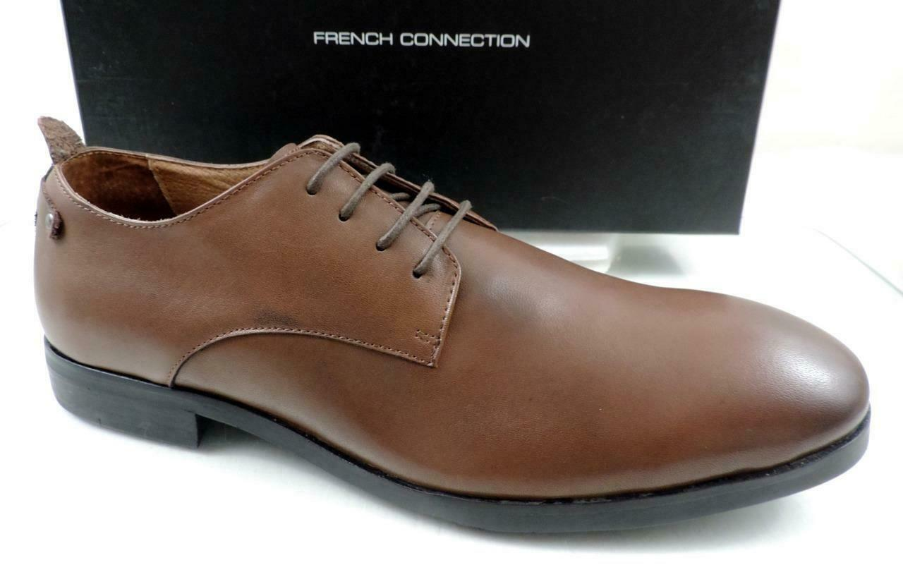Mens French Connection Filip Leather Lace Up Oxford Dress shoes Brown Size 10.5