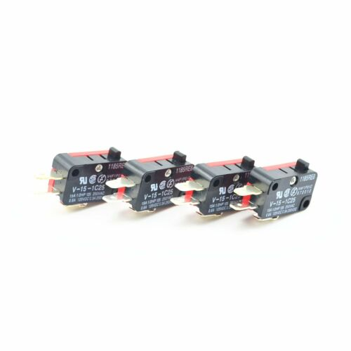 4Pcs V-15-1C25 15A//250VAC 3 Broches Bouton poussoir Micro Switch