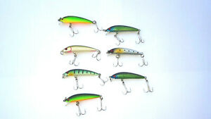 7-x-Lures-Artificial-Minnow-5-cm-Rattling-No-Rapala-Trout-Bass-Lot-Sinking
