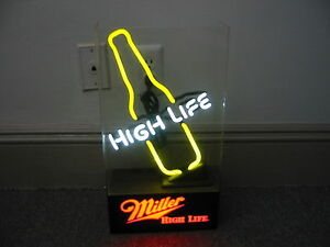 Image Is Loading MILLER HIGH LIFE BOTTLE MINI REALLY COOL NEON