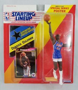 1992 Derrick Coleman New Jersey Nets NBA Basketball Starting Lineup