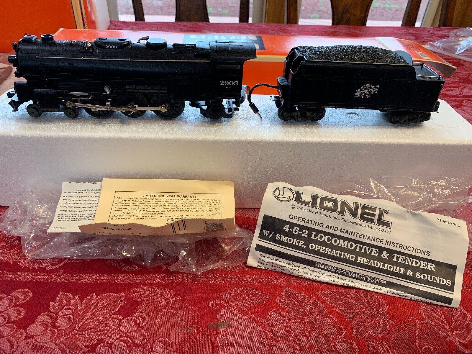 Lionel Locomotora Tender 2903 E W 71-8630-250 W 4-6-2 sonidos de Faros de humo