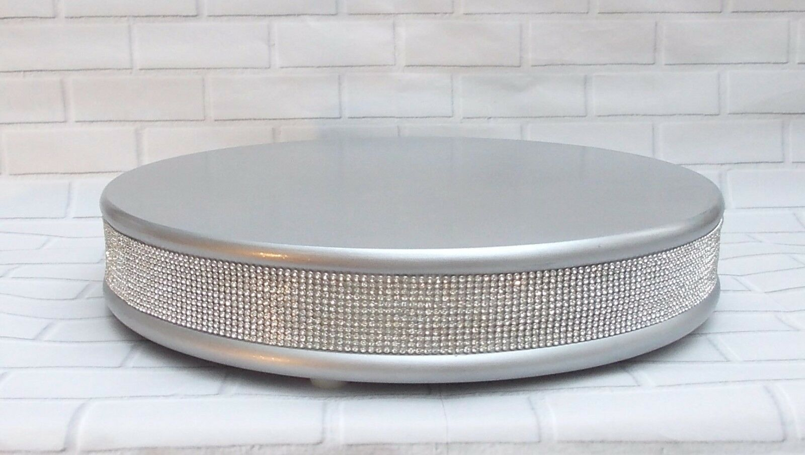 Argent Véritable Cristal wedding cake stand 15 in (environ 38.10 cm)