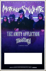 FREE Rock Poster! MOTIONLESS IN WHITE Graveyard Shift Ltd Ed RARE Tour Poster