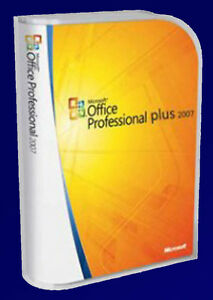 MICROSOFT-OFFICE-PROFESSIONAL-2007-Word-Excel-Outlook-Publisher-etc-5-PC-s