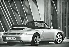 Porsche 911 Carrera Cabriolet 1997 Official Porsche Press Photograph
