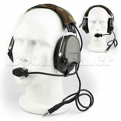 Tactical Headphone For Airsoft Hunting Shooting EarMuff  #GY