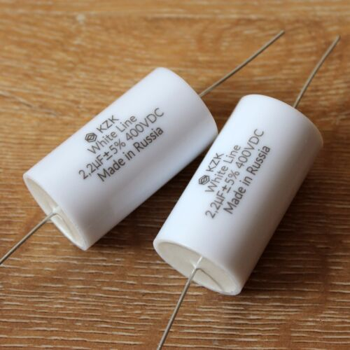 2.2uF 400V Matched Pair Russian Audio Capacitors for DIY Loudspeaker Crossovers