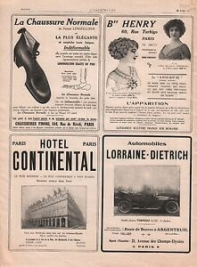 Lorraine-Dietrich-Chaussure-Normale-Hotel-Continental-Paris-1911-ILLUSTRATION