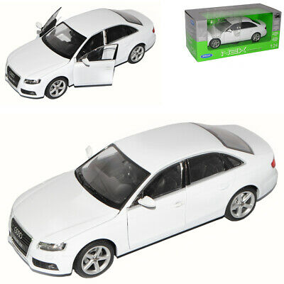Audi A4 B8 Weiss Limousine Ab 2007 1//24 Welly Modell Auto mit oder ohne indivi..
