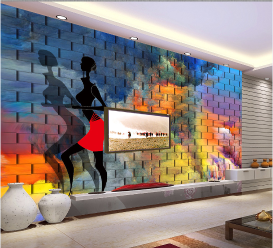 3D 3D 3D Painted Female Pattern 18 Paper Wall Print Wall Decal Wall Deco Indoor Murals 121e2a