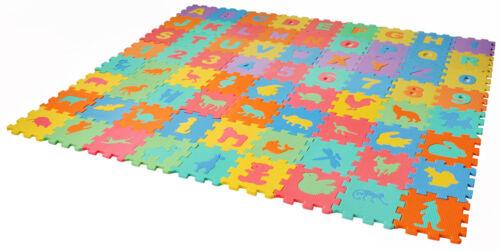 Puzzlematte Spielmatte Bodenmatte Spielteppich Kinderteppich 72 tlg #4495