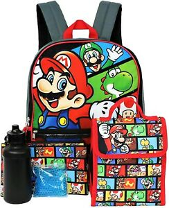 """PJ MASKS CATBOY 16/"""" 5-Piece Backpack Set w// Insulated Lunch Box Bottle NWT $40"""