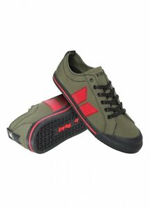 premium selection 7d253 43de6 Details zu Macbeth The Eliot Trainer Shoes Military Green / Red sizes UK  4-12 BNIB VEGAN