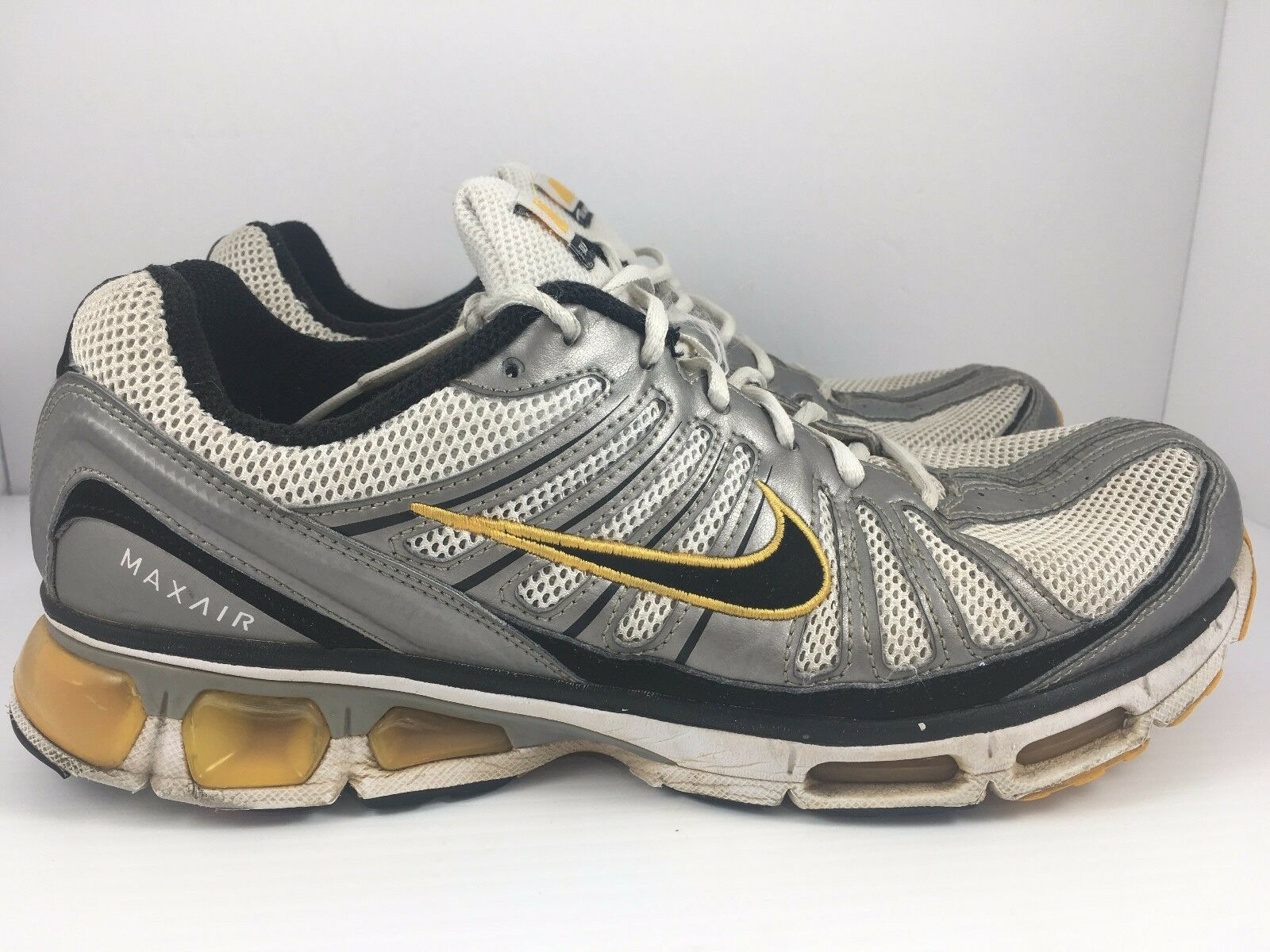 1c5af5f9d1 ... NIKE Air Max Tailwind 2009 Men US 11 White Silver Yellow Yellow Silver  Shoes 344758- ...