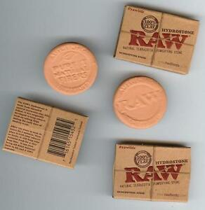 TWO-RAW-Rolling-Papers-HYDROSTONE-HUMIDOR-HUMIDIFIER-CIGAR-TOBACCO-Natural-New