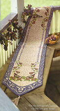 Jim Shore Twelve Days of Christmas Tapestry Table Runner